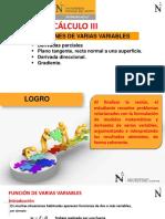 1. Fvarias Variables.derivadas Parciales.plano Tangente.gradiente. Calculo3.WA Morales