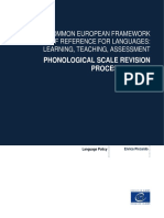 PHONOLOGICAL SCALE REVISION PROCESS REPORT Language Policy