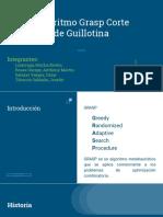 Algoritmo Grasp - Corte de Guillotina