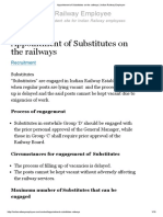 Appointment of Substitutes on the Railways _ Indian Railway Employee