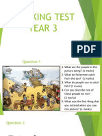 Speaking Test Year 3
