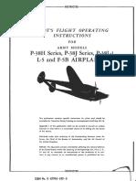 Lockheed P 38HJL 1&L 5L 5B Flight Manual