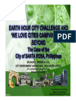 Earth Hour City Challenge and We Love Cities Campaign and Beyond