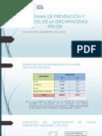 Evaluación de Discapacidad Tacna Año 2018