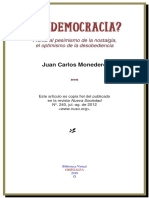 Monedero, JC. - ¿Posdemocracia. El optimismo de la desobediencia