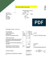 Main Hoist Motor Power Calculations