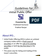 SEBI Guidelines on IPO