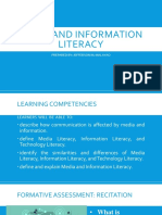 Media and Information Literacy1 and 2