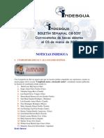 Boletin Semanal Indesgua 08-2017- Convocatorias Abiertas Al 5 de Marzo de 2017