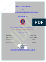 50124944 a Project Report on Custmer Satisfaction Regarding HDFC BANK