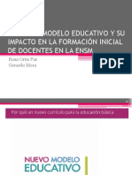 El nuevo Modelo Educativo y su impacto en la Escuela Normal Superior de México. CDMX