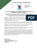 Press Release Mchezaji Wa Simba