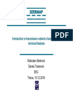 Introduction to transmission network characteristics - technical features - Tirana