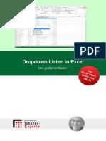 Handbuch - Dropdown-Listen in Excel - Der Große Leitfaden