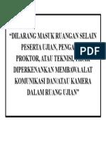 DILARANG MASUK RUANGAN SELAIN PESERTA UJIAN.docx
