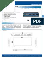 IT-ES1028-IU-4GS-4F_100-240VAC_Datasheet - SWITCH ETHERNET UNMANAGED INDUSTRIAL