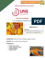 INFORME DE MATERIAS PRIMAS (CÍTRICOS)