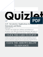 2.15 - Inventories Implications for Financial Statements and Ratios Flashcards Quizlet