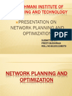 Network planning and optimization