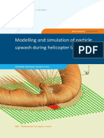 Modelling and simulation of particle upwash during helicopter landing