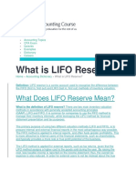 What is LIFO Reserve - Definition Meaning Example