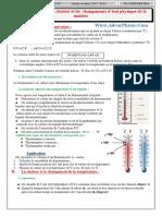 Cr2 - Temperature Et La Chaleur (Www.adrarPhysic.com)