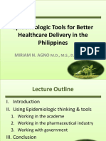 Epidemiologic Tools for Better Healthcare delivery in the Philippines