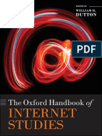[Oxford Handbooks] William H. Dutton - The Oxford Handbook of Internet Studies (2013, Oxford University Press)