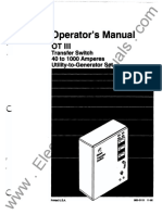 962-0113 Onan OT-III OTCx (Spec G-H) 40 to 1000 Amp Transfer Switch Operator's Manual (11-1992))