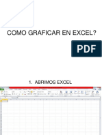 Como graficar en excle