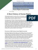 A Short History of Human Rights