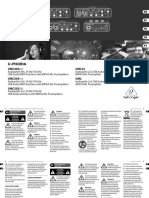 BEHRINGER_UMC404HD P0BK1_Product Information Document