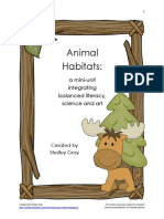 Animal Habitats Mini Unit Balanced Literacy Art Science