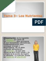 Tema 3 - Los Nutrientes