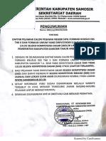 Daftar Nilai Kelulusan Skd Cpns Dilingkungan Pemerintah Kabupaten Samosir t