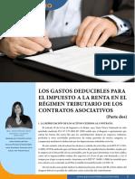 Los Gastos Del IR en Los Contratos Asociativos - Parte 2
