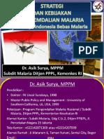 Kebijakan Program Malaria Monev Malaria Sept 2013