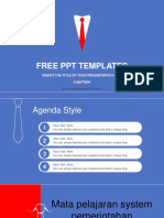 Businessmans Red Tie PowerPoint Template
