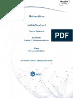 Unidad 2_Actividad 1. Sistemas Numericos y Error