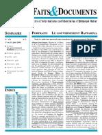 Faits et Documents (Lettre F&D N°133)