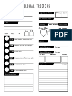 Character Sheet ColonialTroopers