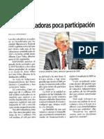 30/Noviembre/2018 Tienen valuadoras poca participación - REFORMA