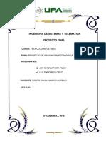 PROYECTO DE INNOVACIÓN PEDAGÓGICA_TECNOLOGIAS DE RED I