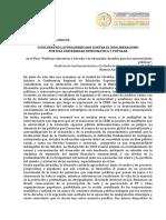 Documento para el debate / Conadu