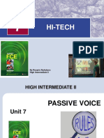 Unit 7- High Tech- Passive Voice