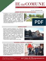 Notizie Dal Comune di Borgomanero del 30 Novembre 2018