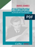 """Muriel Combes """"Simondon. Una filosofía de lo transindividual"""""""