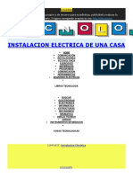 Instalaciones Electricas de Una Vivienda
