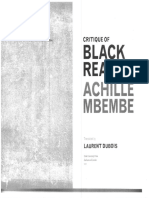 Mbembe - Critique of Black Reason