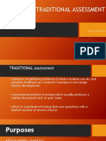 Traditional Assessment Report